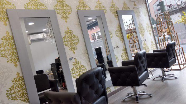 Decoración peluquería en Madrid